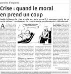 Crise : quand le moral en prend un coup