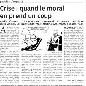 Avec la NR : les impacts de la crise sur notre psychisme