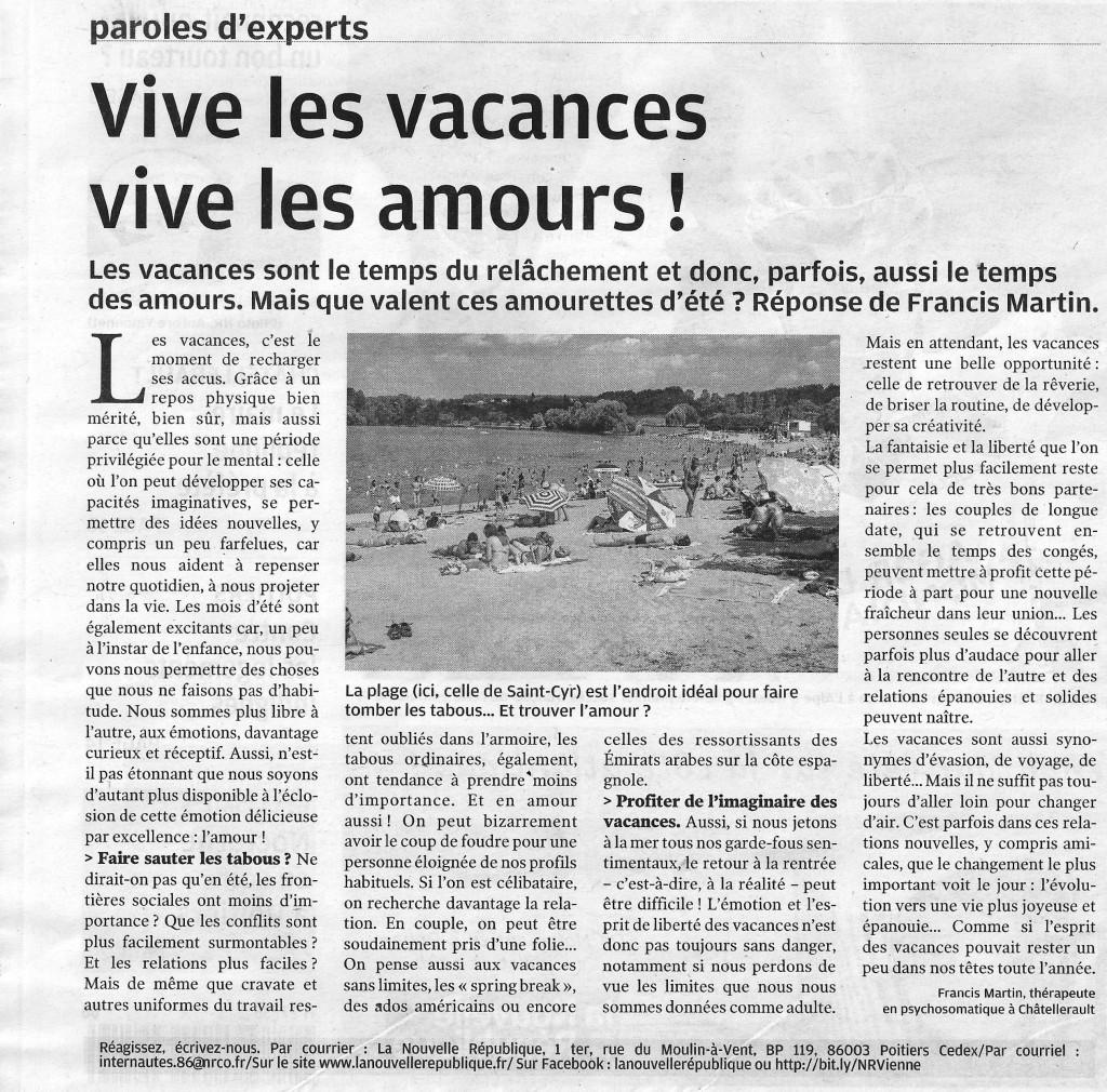nouvelle republique 19 juillet 2013