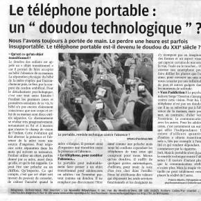 """Le portable, """"doudou"""" du XXIe siècle ?"""