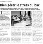 Gérer le stress du Bac